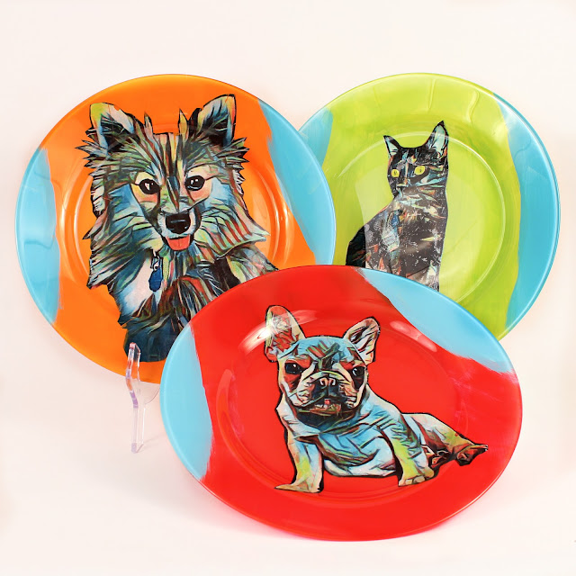Pet Portrait Dishes DIY