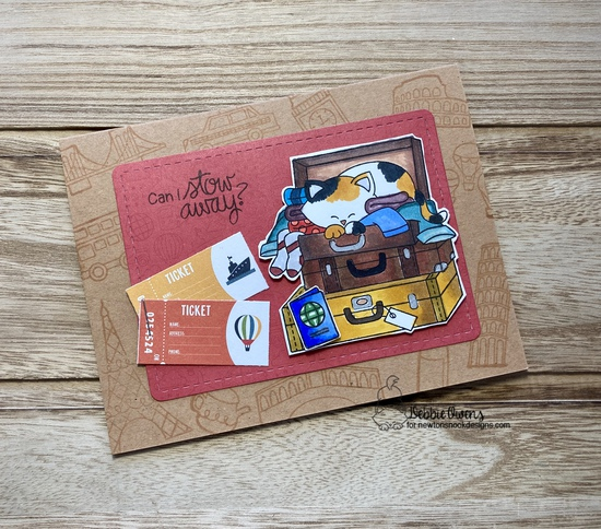 Can I stowaway? by Debbie features Stowaway Newton, Frames & Flags, Newton Dreams of London, Newton Dreams of Paris, Newton Dreams of Italy, and Newton Dreams of New York by Newton's Nook Designs; #newtonsnook