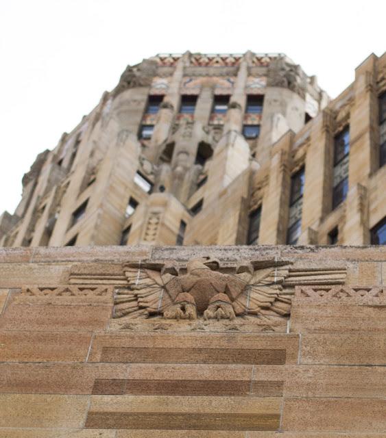 Art Deco eagle on the facade of Buffalo City Hall