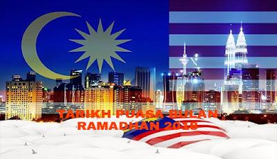 Tarikh Puasa Bulan Ramadhan 2018 Malaysia