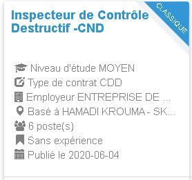 Inspecteur de Contrôle Non Destructif -CND HAMADI KROUMA