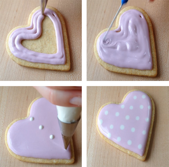 icing for cookies, frosting for cookies, cookie decorating ideas, valentine cookies, heart cookies, ideas for valentines day, valentines ideas