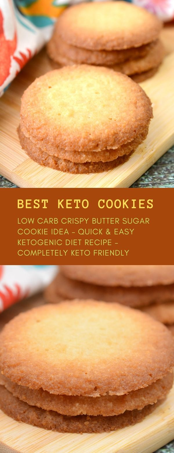 BEST KETO COOKIES! LOW CARB CRISPY BUTTER SUGAR COOKIE IDEA – QUICK & EASY KETOGENIC DIET RECIPE – COMPLETELY KETO FRIENDLY