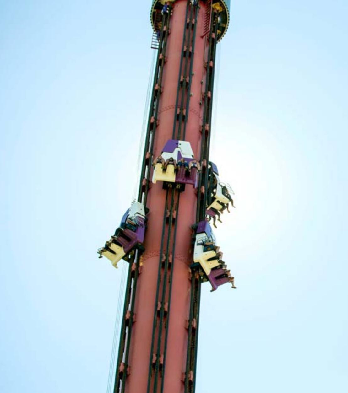 Heide park free fall tower