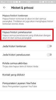 2 Cara Menghapus Riwayat Penelusuran Youtube di HP Android