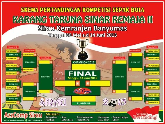 Desain Banner Skema Pertandingan Sepak Bola cdr