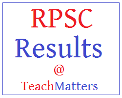 image : RPSC School Headmaster Result 2018 @ TeachMatters