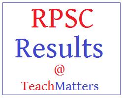 image : RPSC School Headmaster Result 2021 @ TeachMatters