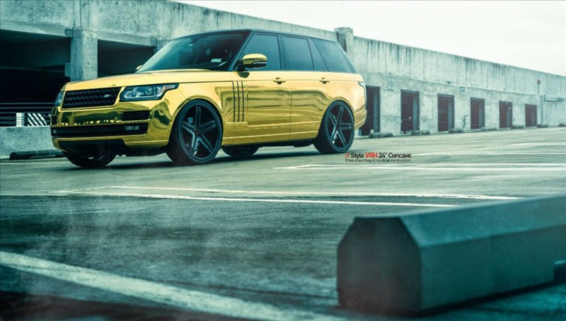 Golden Range Rover By MC Customs