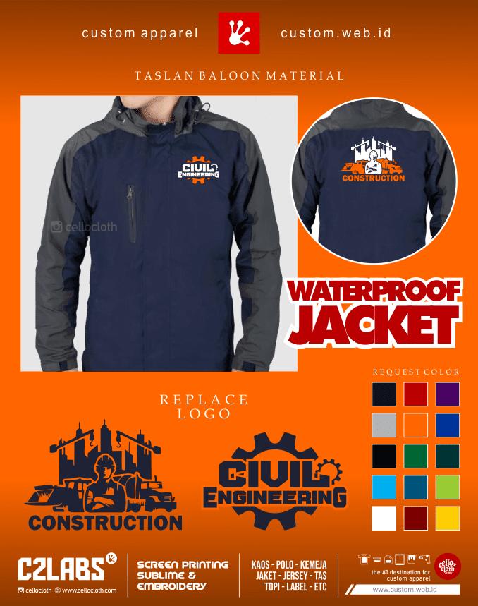 Construction Civil Engineering Jacket - Jaket Tehnik Sipil - Konveksi Jaket Jogja