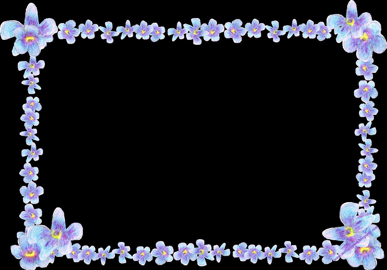 free digital blue flower frame faux vintage forget me not frame blumenrahmen png freebie. Black Bedroom Furniture Sets. Home Design Ideas