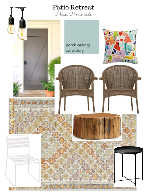 Our back patio is getting a makeover!! Being home during corona virus caused me to shift my attention to making this space look more like an extension of our home. Here's what we've got planned.