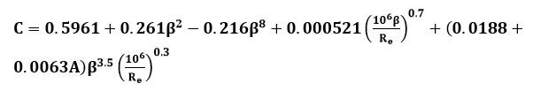 Ecuación de coeficiente de descarga resumida
