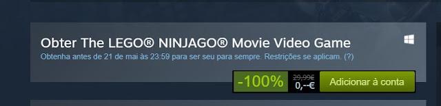 The LEGO® NINJAGO® Movie Video Game está gratuito!