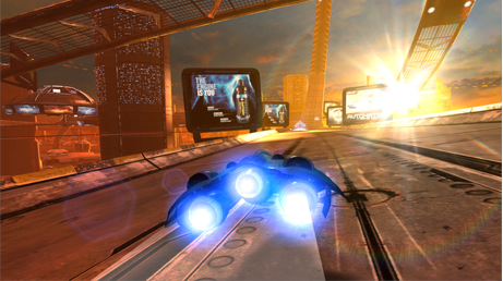 AG Drive takes you on the ride of your life as you drive blazing fast anti-gravity race craft and race against opponents on spectacular tracks