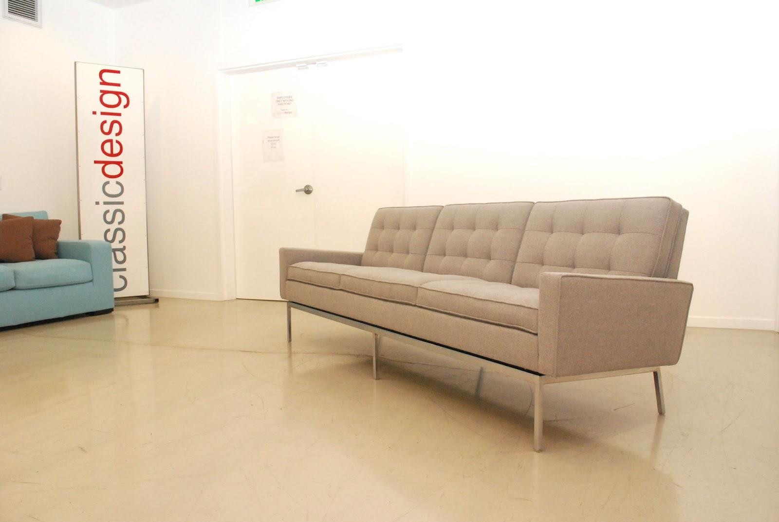 classic design before after vintage florence knoll sofa. Black Bedroom Furniture Sets. Home Design Ideas