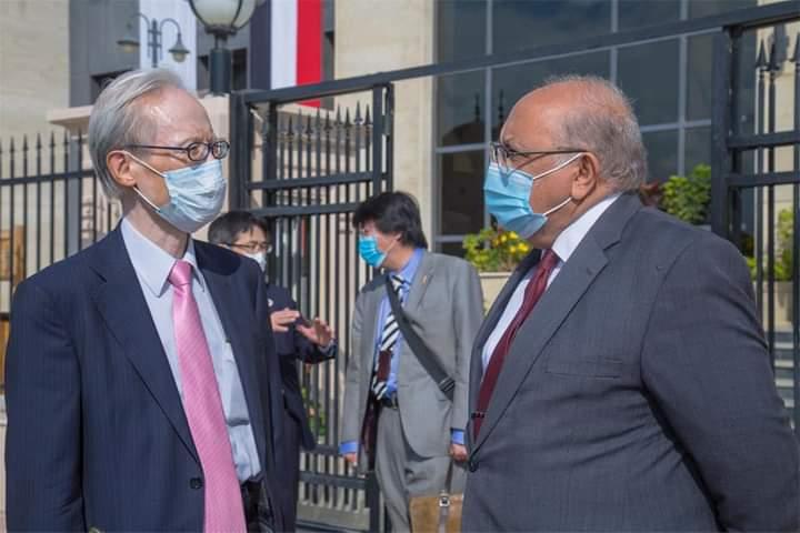 السفير اليابانى بالقاهرة يزور الجامعة المصرية اليابانية ويفتتح ورشه تصنيع أثاث المدينة الجامعية