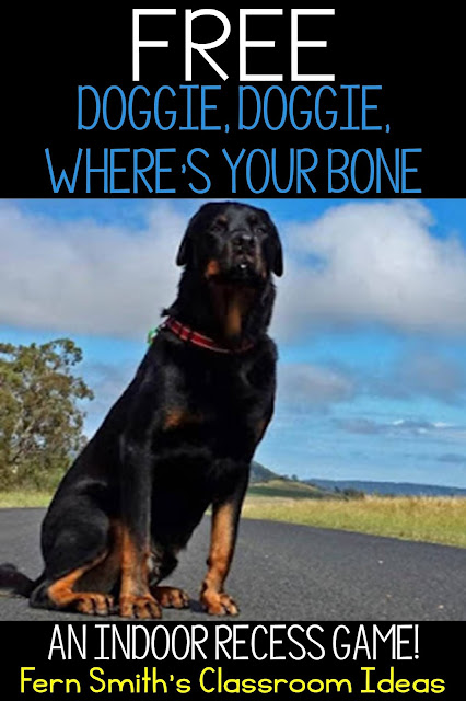 Free Printable Directions for Doggy, Doggy, Where's Your Bone? from #FernSmithsClassroomIdeas