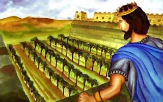 Ahab looking at Naboth's vineyard - artist unknown