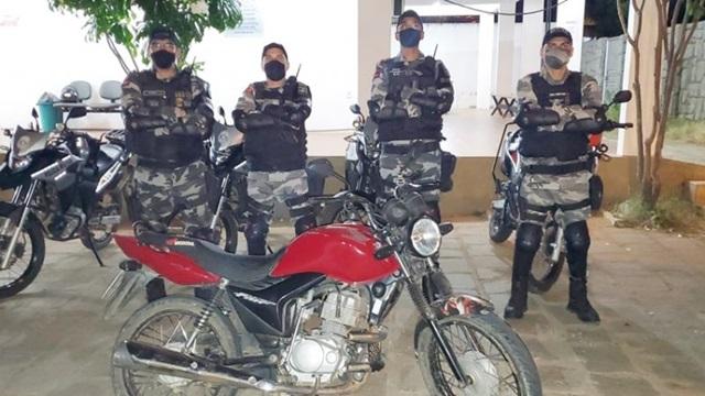 Rotam recupera moto roubada minutos após o ocorrido na cidade de Patos