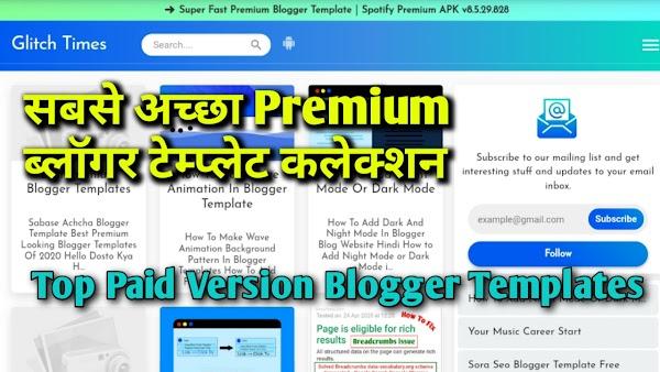 Best Premium Version Blogger Templates 2020 Collation