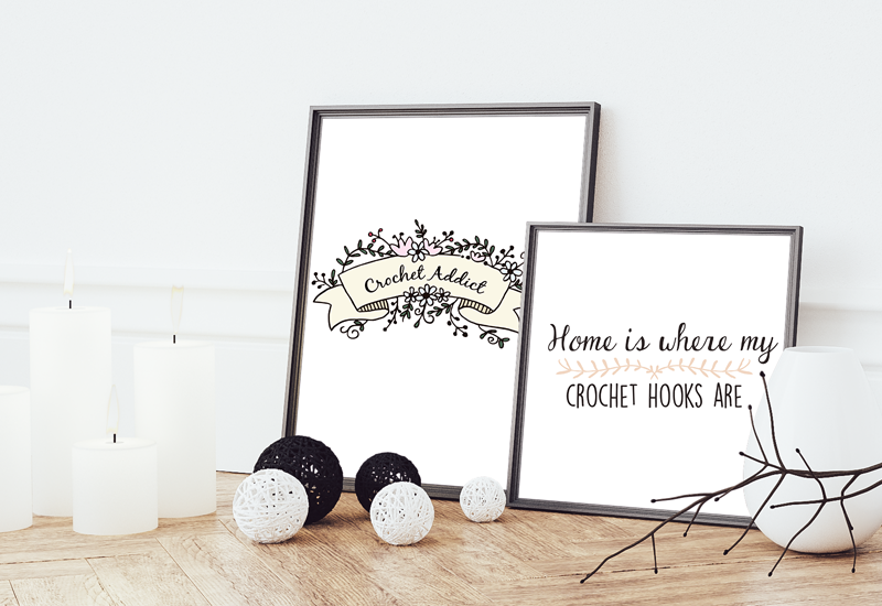 Free printable crochet wall art by MylovelyHook