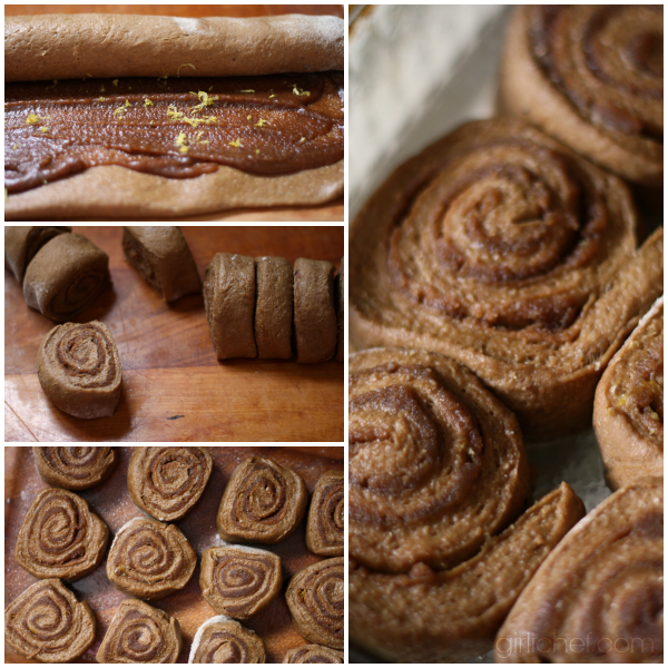 Gingerbread Cinnamon Rolls from www.girlichef.com