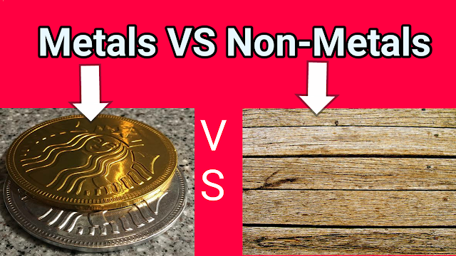 difference between metals and non-metals