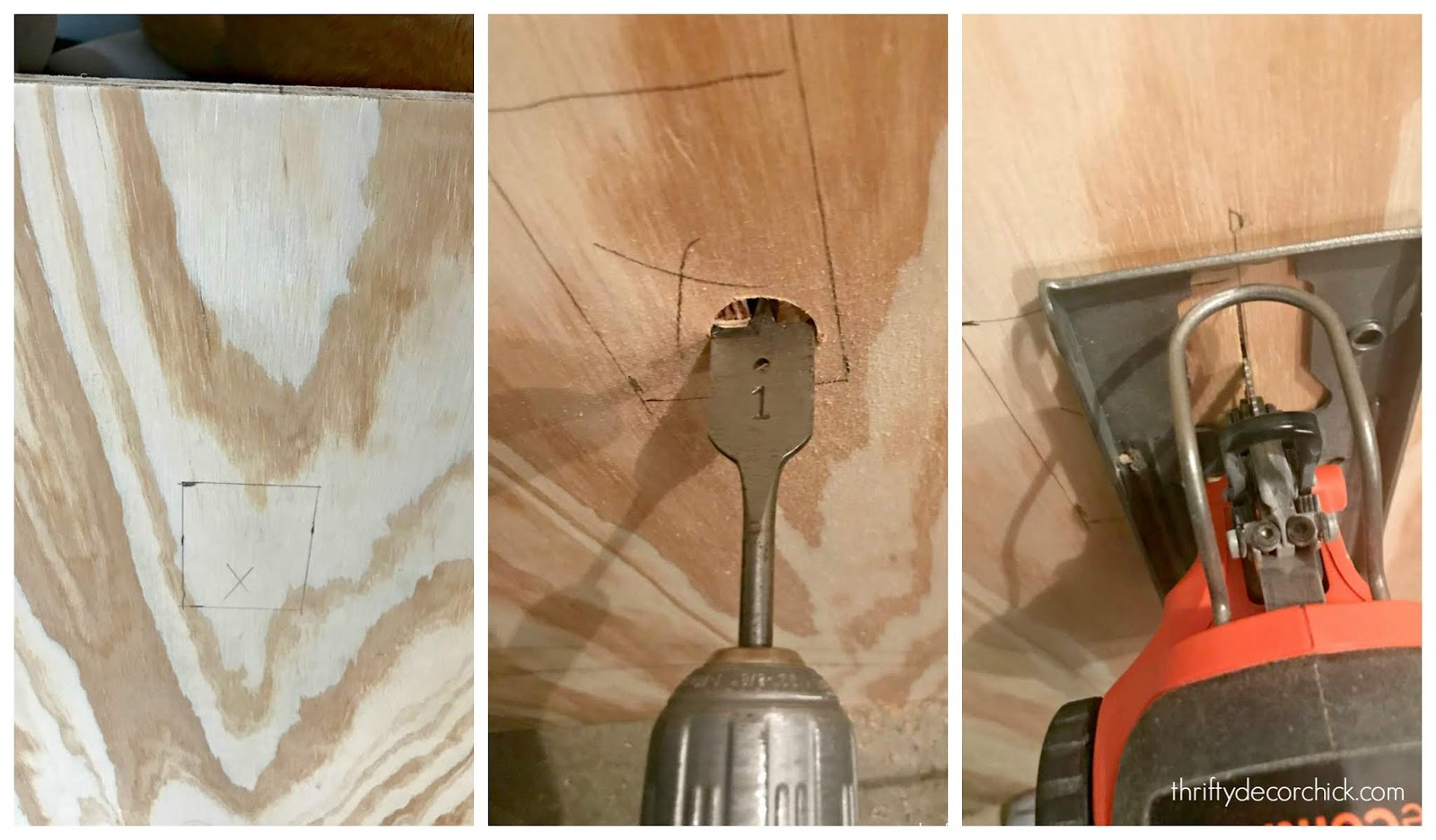 How to cut hole in wood for outlet