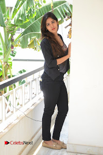 Actress Chandini Chowdary Pictures in Black Jeans at Interview  0257.JPG