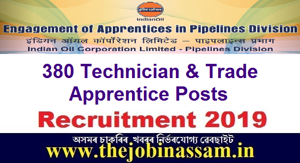 IOCL, Pipelines Division Recruitment 2019