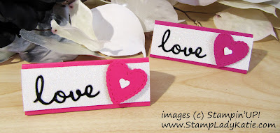 Triangle Kiss Favor made with dies from Stampin'UP!'s Well Written and Be Mine die sets