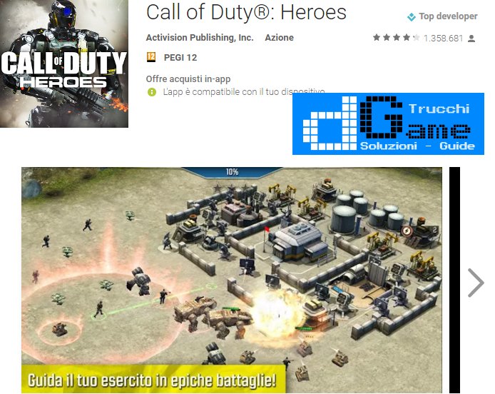 Trucchi Call of duty:Heroes Mod Apk Android v2.5.1