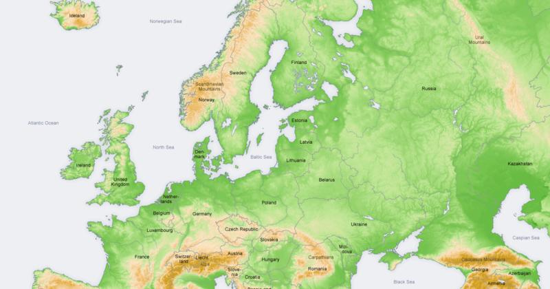 Cartina Fisica Europa Orientale.Ripasso Facile Riassunto Sull Europa