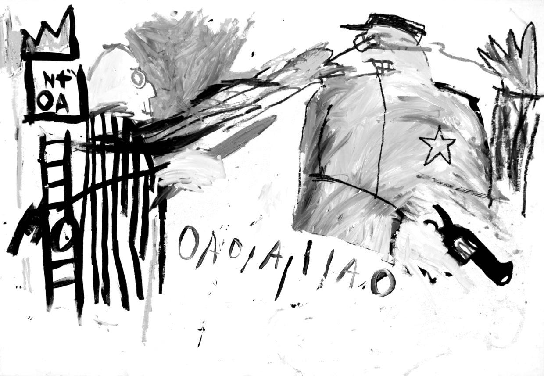 Jean-Michel Basquiat. Untitled (Sheriff). 1981.