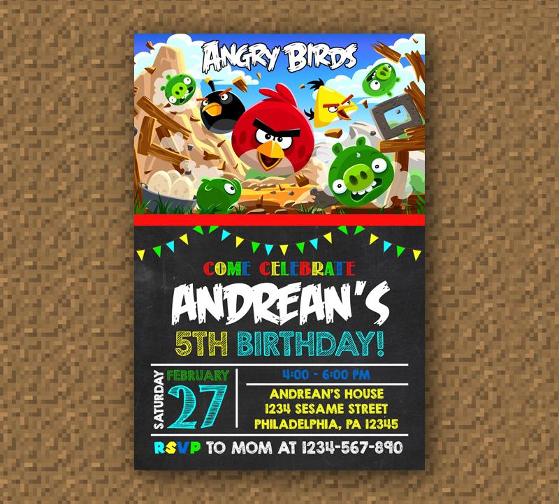 phonecasecustom: Angry Birds Birthday Invitation Printable, Digital ...