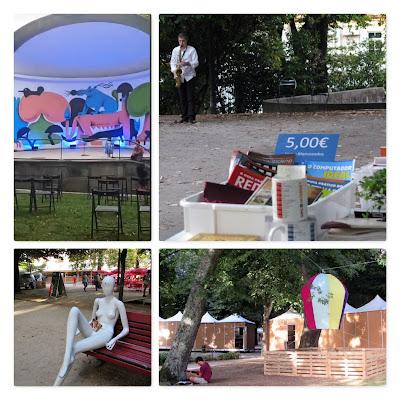 Intalações e atividades artisticas na Feira do Livro do Porto