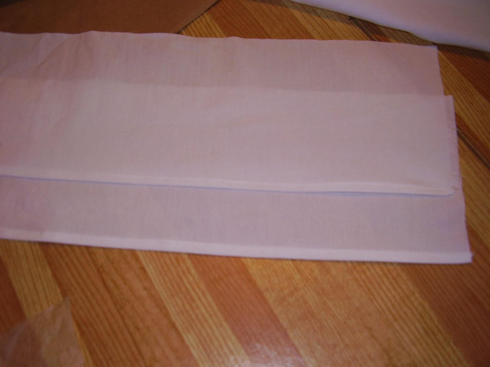 Hemmed sleeves for Regency chemise or shift.
