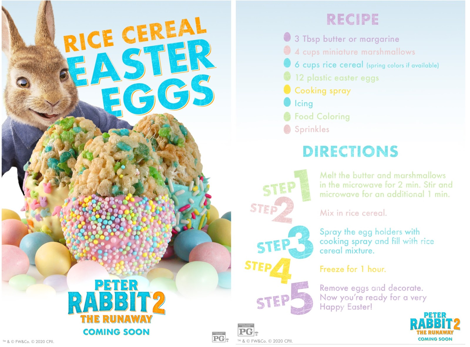 Peter Rabbit 2 Easter Rice Cereal Eggs