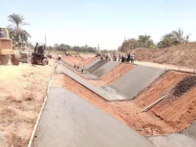 عاجل : محافظة كفر الشيخ تبدأ في تغطية الترع والمصارف لحماية مياة النيل