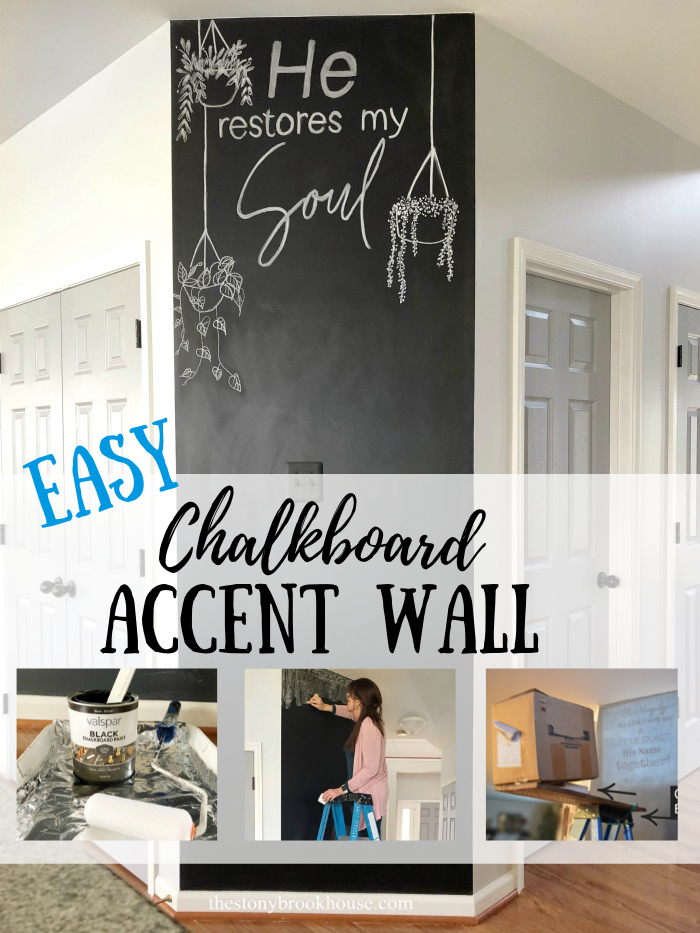 Easy chalkboard Accent Wall