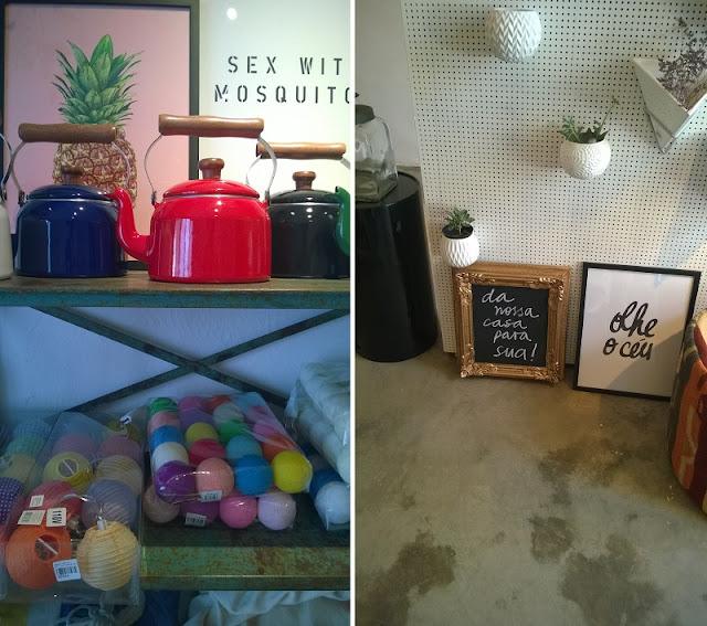Produtos decorativos na Collector 55