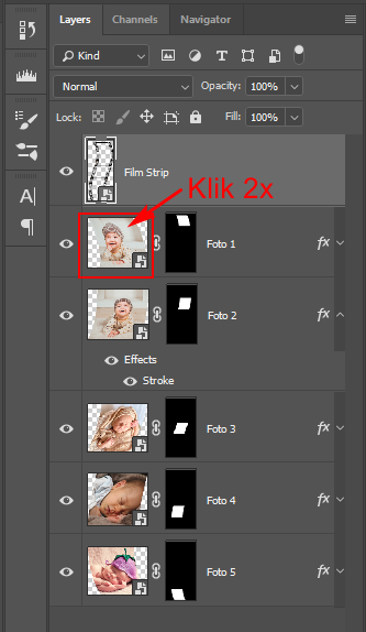 Cara mengganti foto Frame Film Strip