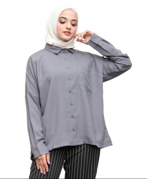 Blouse Gray Color