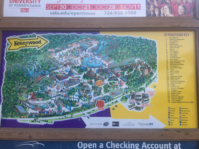 kennywood park map 2017