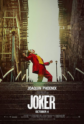 Movie poster for DC's Joker 2019 directed by Todd Phillips, starring Joaquin Phoenix