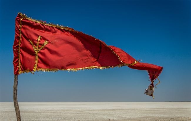 The white Desert of the Greater Rann of Kutch Lake