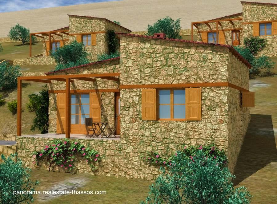 Casas de piedra en Grecia