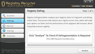 برنامج الريجيسترى  Registry Recycler نسخة محمولة