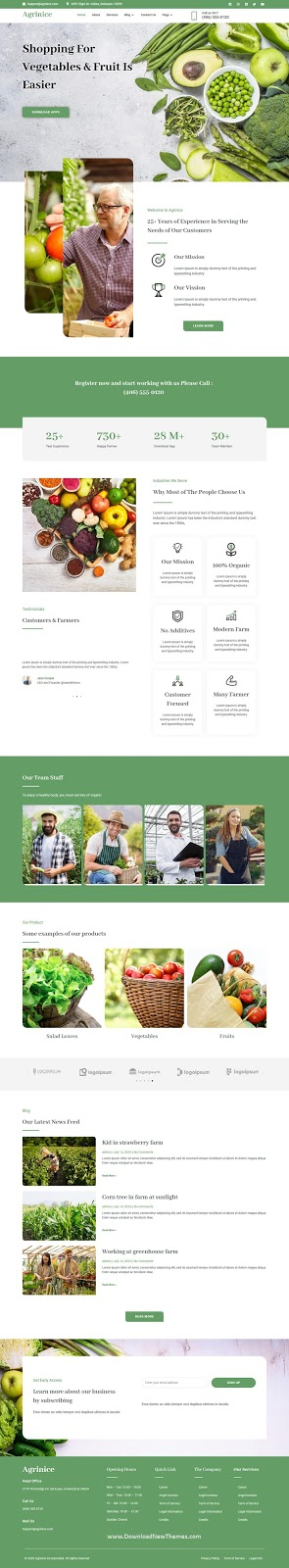 Agriculture and Organic Food Template Kit